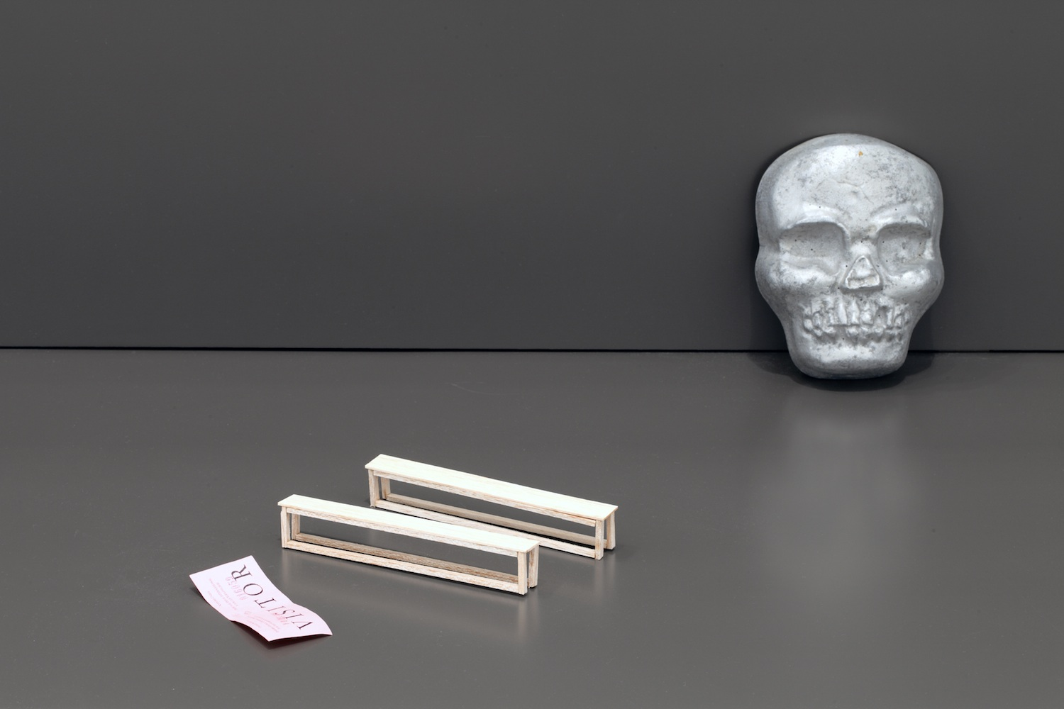 Skull with Benches and ICTY Ticket