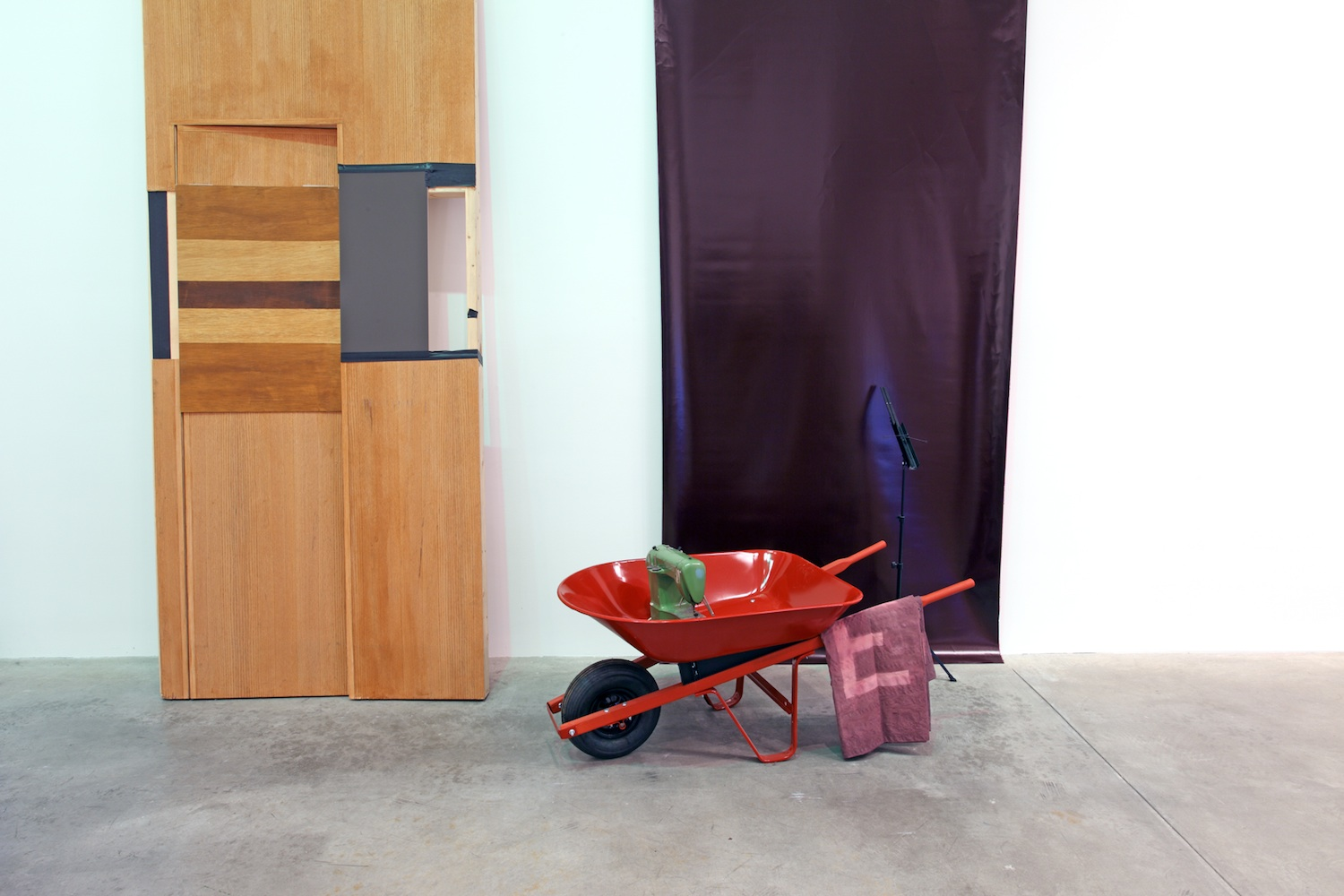 False Door with Wheelbarrow
